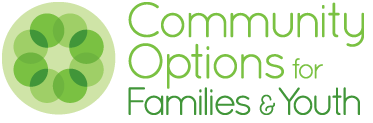communitiy options for youth and families logo